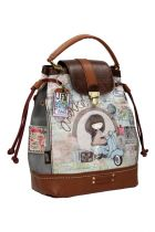 Τσάντα χειρός πουγκί μπεζ Anekke Traveller 23714.2