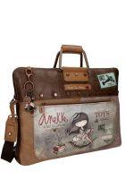 Anekke - Stories 25814-5 τσάντα laptop - χαρτοφύλακας καφέ - γκρι