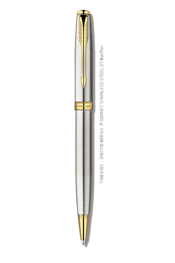 Στυλό PARKER Sonnet Stainless Steel GT Ballpen 1108.6103