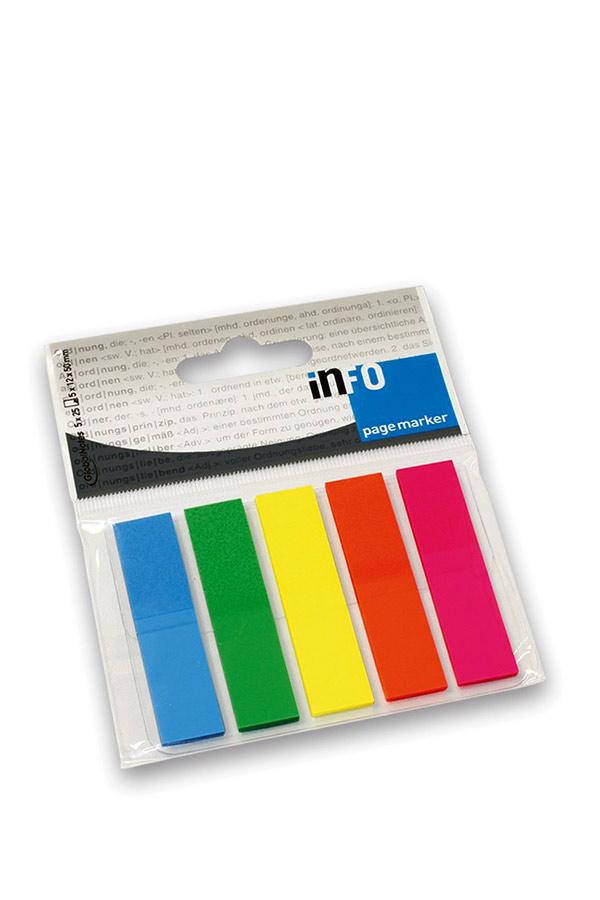 Αυτοκόλλητοι σελιδοδείκτες 12x44mm Info Notes 2681-09
