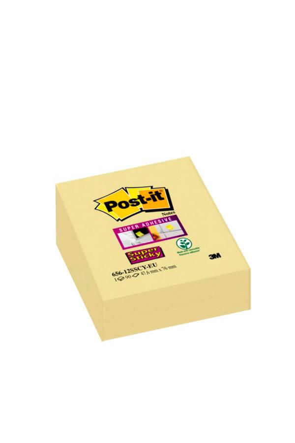 Αυτοκόλλητα χαρτάκια 47,6x76mm 1τεμ. Post-it κίτρινα 656