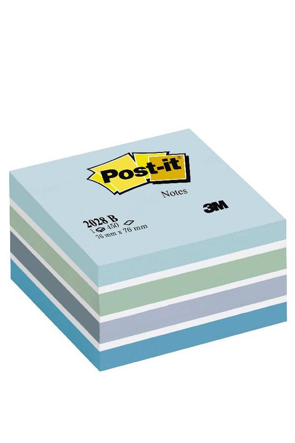 Αυτοκόλλητα χαρτάκια 76x76mm Post-it πολύχρωμα 2028-B