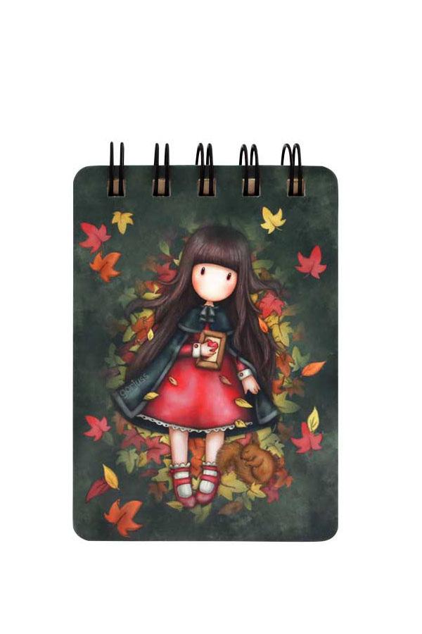 Santoro gorjuss Σημειωματάριο σπιράλ mini 7,5x10,5cm - Autumn leaves 598GJ16