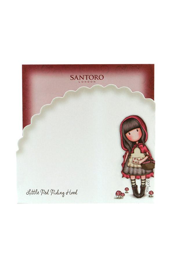 Santoro gorjuss Χαρτάκια κύβου - Little Red Riding Hood 674GJ05