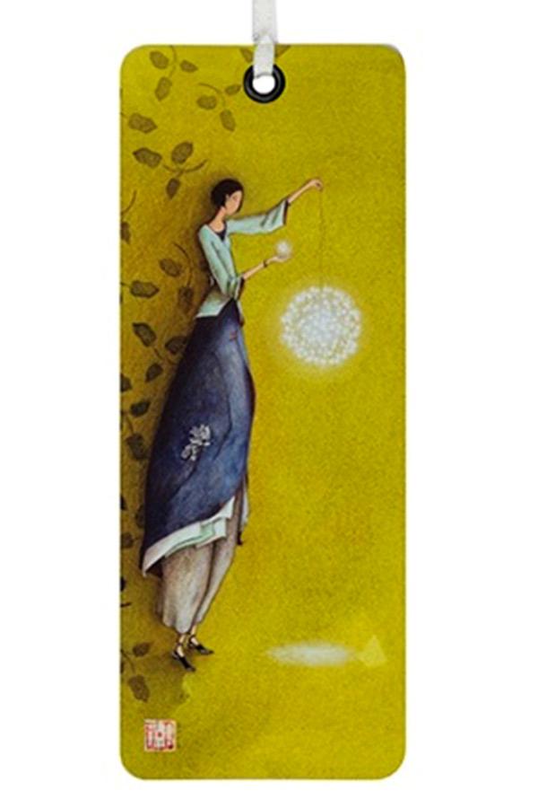 Σελιδοδείκτης χάρτινος Aquarupella Γυναίκα με φανάρι 15484