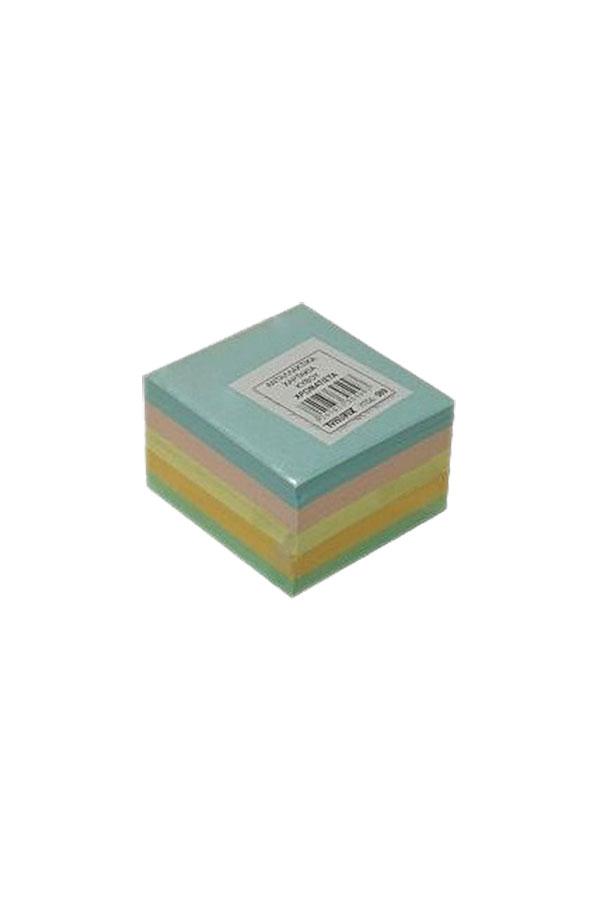 Χαρτάκια κύβου χρωματιστά ακόλλητα 8,5x8,5cm