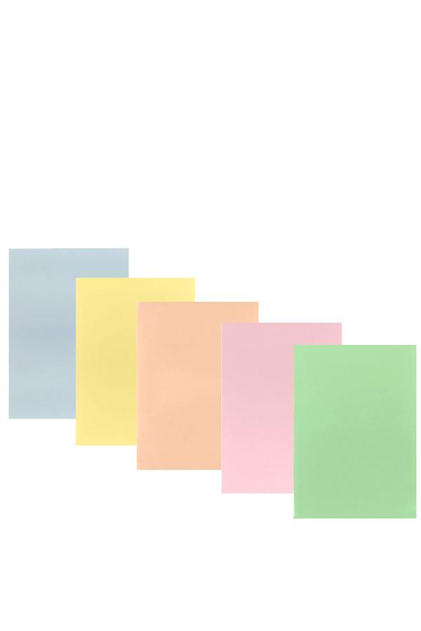 Χαρτί χρωματιστό 5 χρωμάτων παστέλ Α4 80gr 1020