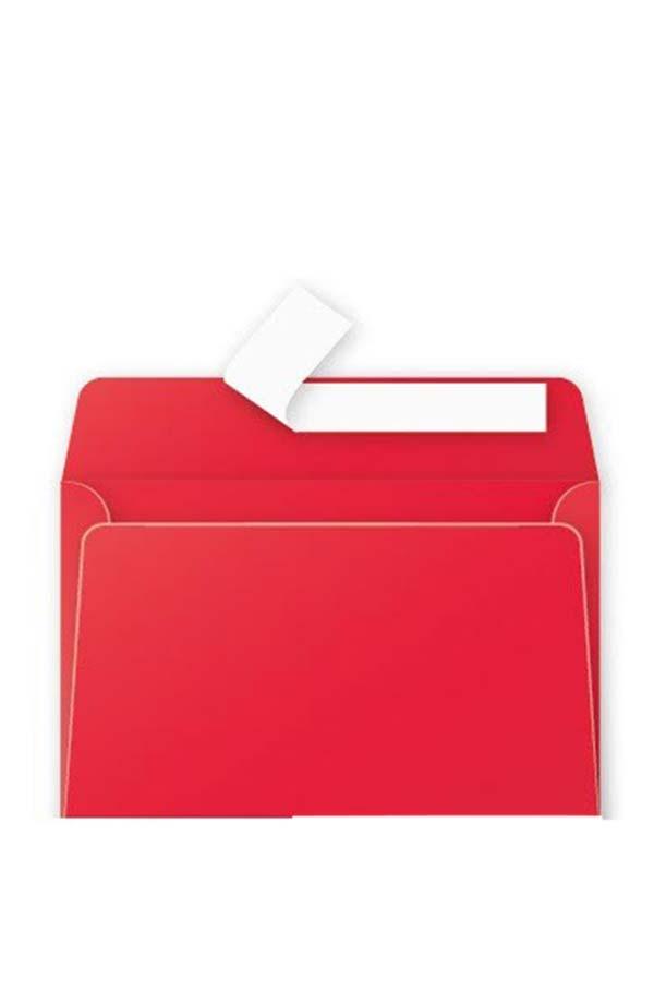 Φάκελος κόκκινος αυτοκόλλητος 11,4 x 16,2 cm 120 gr σετ 20 τμχ