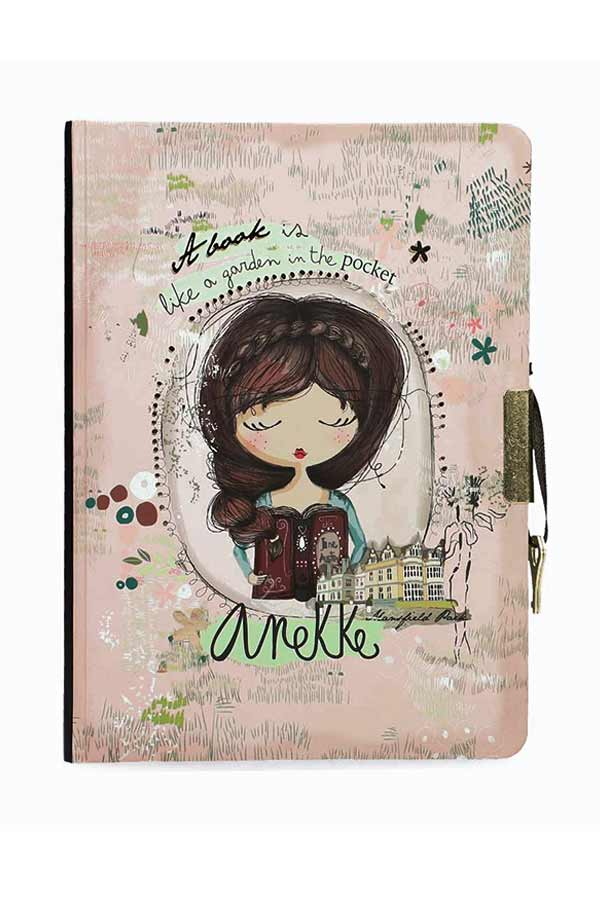 Anekke Jane Σημειωματάριο ημερολόγιο με κλειδί 14x19cm 28860D1X1