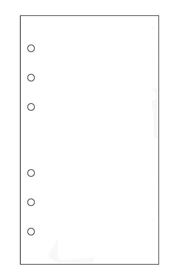 Ανταλλακτικά φύλλα organizer λευκά 10x17cm 890245