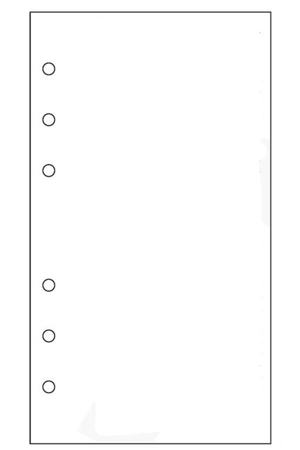 Ανταλλακτικά φύλλα organizer λευκά 15x21cm 890221