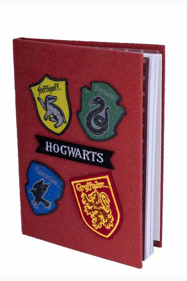 Σημειωματάριο Harry Potter Α5 βέλκρο με μπαλώματα Hogwarts SLHP426