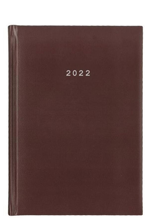 Ημερολόγιο 2022 ημερήσιο δεμένο 17x24cm Basic μπορντώ next 02128-04
