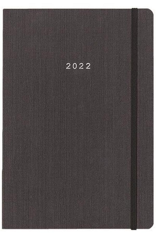 Ημερολόγιο 2022 ημερήσιο 17x24cm Fabric γκρι flexi next 02292-08