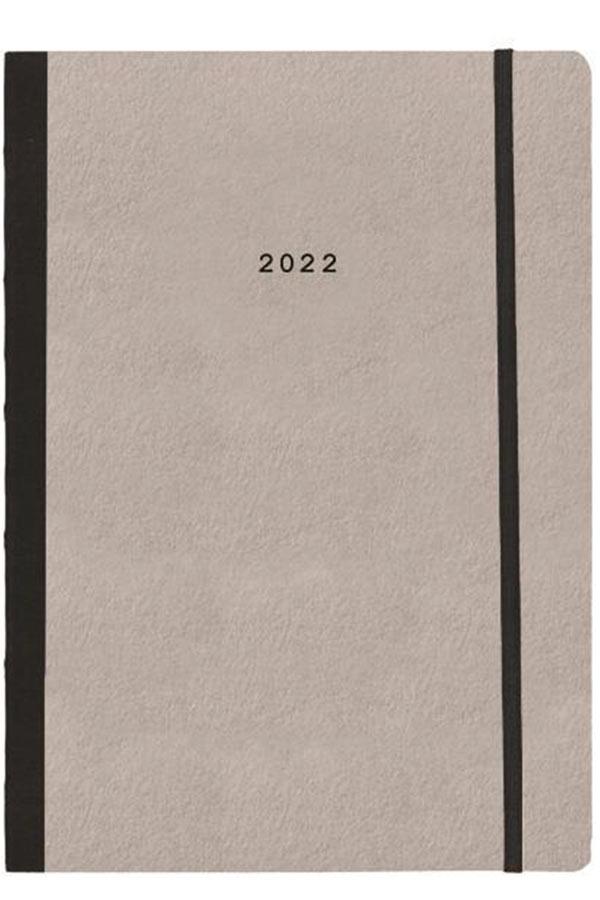 Ημερολόγιο 2022 εβδομαδιαίο 17x24cm γκρι ανοιχτό Natural flexi next 02039-01