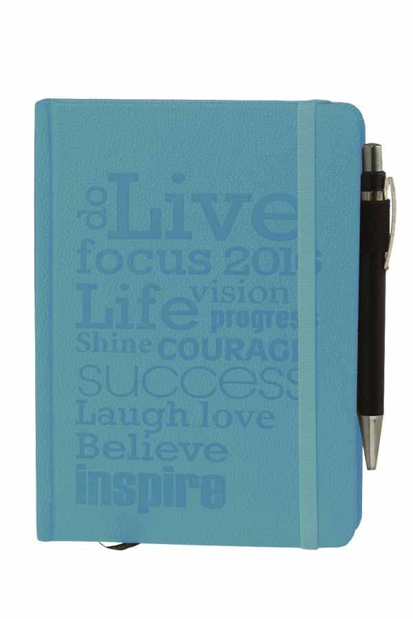 Ημερολόγιο 2020 ημερήσιο 14x21cm Opus δεμένο με στυλό γαλάζιο