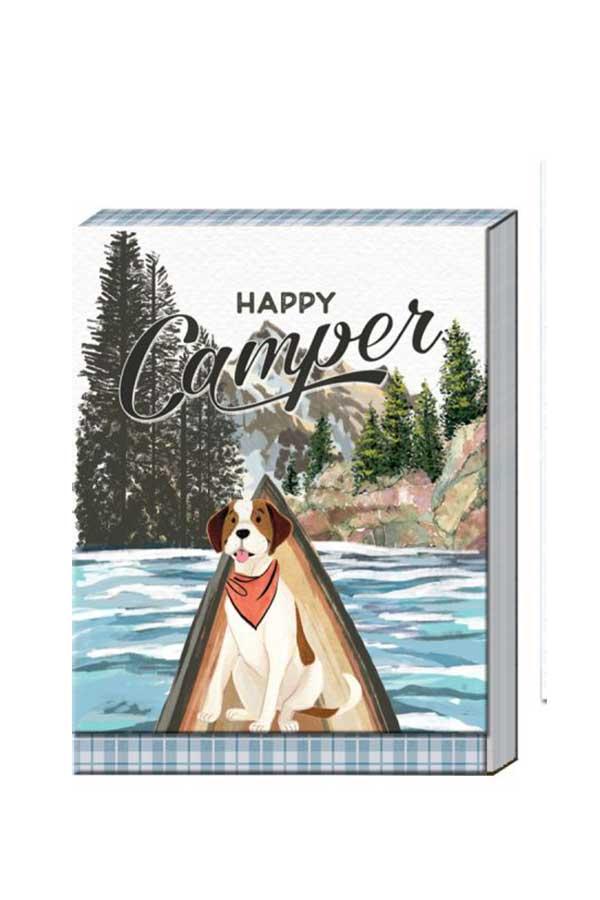 Σημειωματάριο τσέπης 8x10cm Happy camper 38627