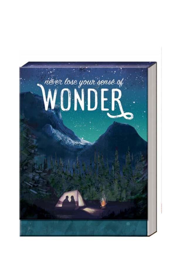 Σημειωματάριο τσέπης 8x10cm Never lose your sense of wonder 38628