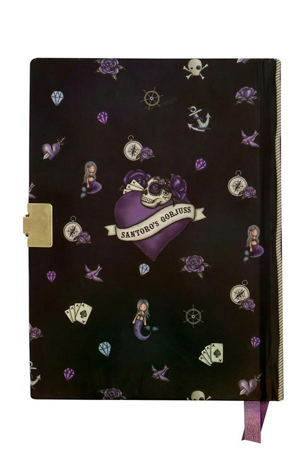 Santoro gorjuss Σημειωματάριο - ημερολόγιο με κλειδί 14x18,5cm Sea Nixie 522GJ08