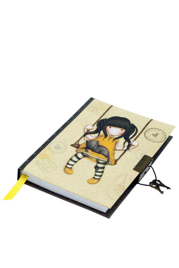 Σημειωματάριο ημερολόγιο Santoro gorjuss με κλειδί 13x18cm Ruby 577GJ05