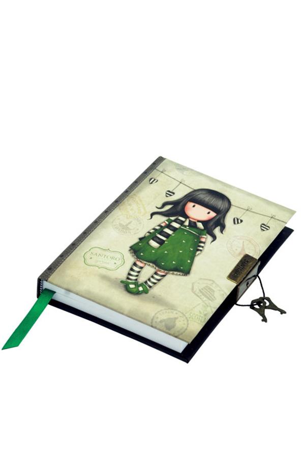 Σημειωματάριο ημερολόγιο Santoro gorjuss με κλειδί 13x18cm The scarf 577GJ08