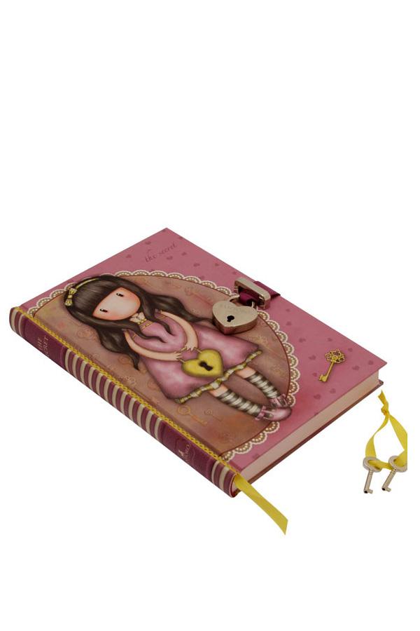 Σημειωματάριο ημερολόγιο Santoro gorjuss με κλειδί 14x20,5cm The secret 700GJ01