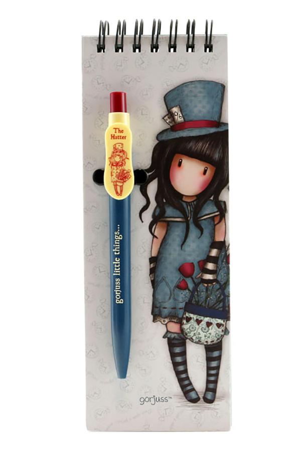 Santoro gorjuss Σημειωματάριο σπιράλ με στυλό - The hatter 799GJ10