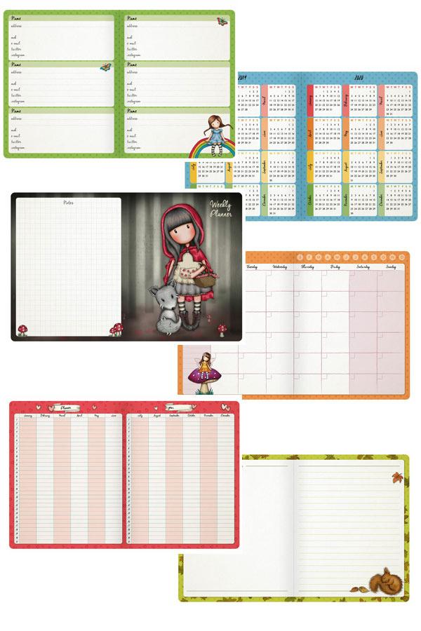Santoro gorjuss Organizer Daily planner - Autumn leaves 975GJ02