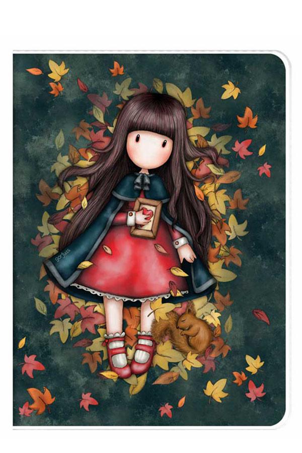 Santoro gorjuss Σημειωματάριο Α4 διάφανο κάλυμμα - Autumn leaves 1033GJ01