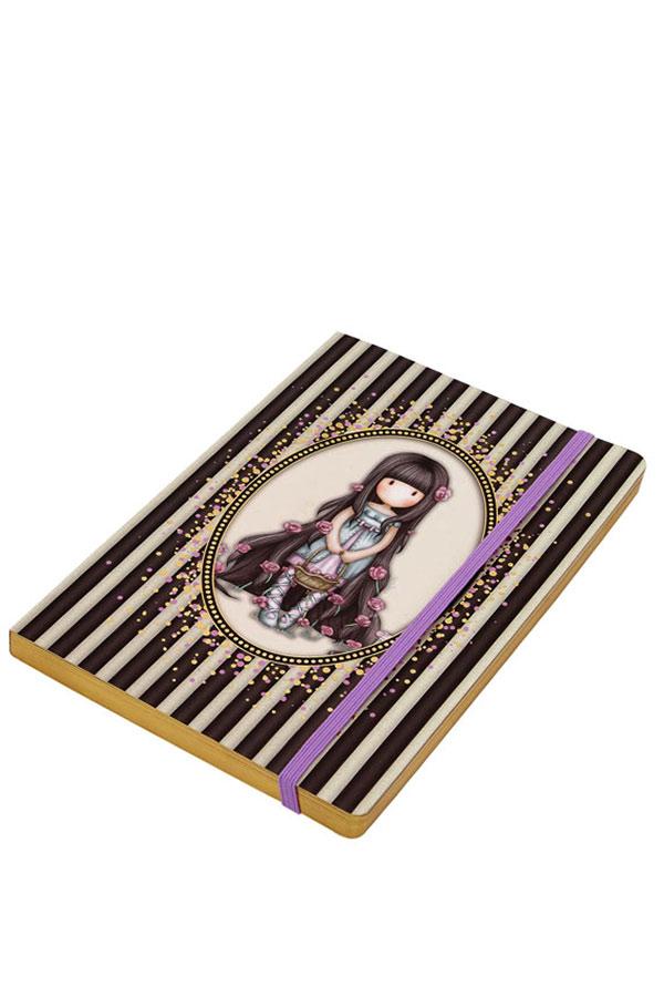 Santoro gorjuss σημειωματάριο με λάστιχο Classic Stripe - Rosie 710GJ01
