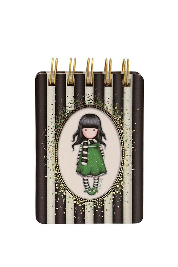 Santoro gorjuss Σημειωματάριο σπιράλ mini Classic Stripe - The scarf 598GJ09