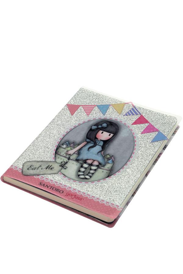 Santoro gorjuss σημειωματάριο με διάφανο κάλυμμα Sweet cake - Eat me 742GJ02