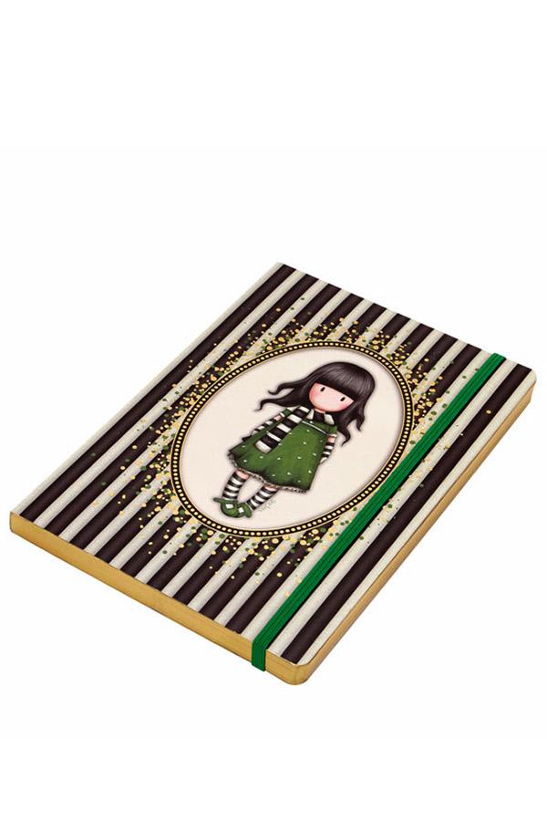 Santoro gorjuss σημειωματάριο με λάστιχο Classic Stripe - The scarf 710GJ02