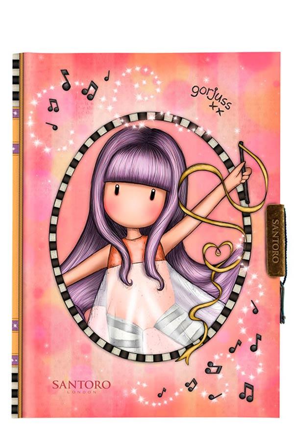 Santoro gorjuss Σημειωματάριο ημερολόγιο με κλειδί 13x18cm Little dancer 577GJ20
