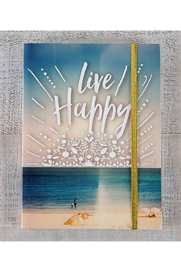 Σημειωματάριο με λάστιχο Natural Life - Live Happy JRNL026