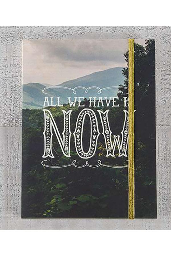 Σημειωματάριο με λάστιχο Natural Life - All we have is NOW JRNL027