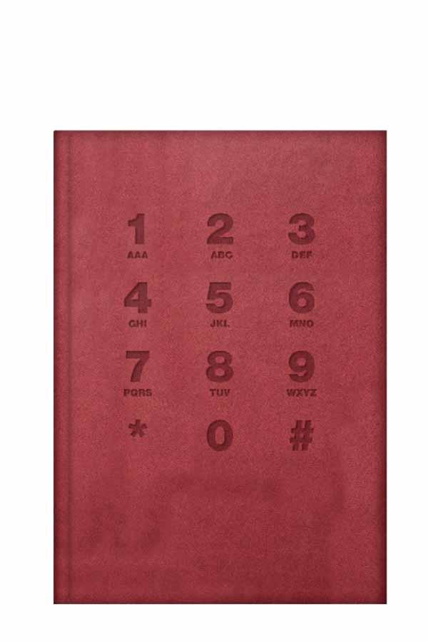 Ευρετήριο τηλεφώνων δερματίνη 11x17cm κόκκινο 20.71004