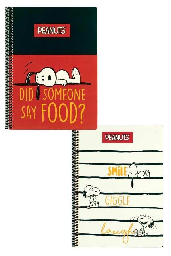 Τετράδιο σπιράλ 2 θέματα Α4 Snoopy 1 τεμ. 365-00440