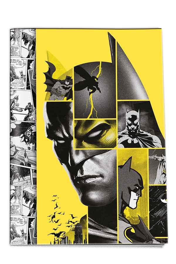 Τετράδιο καρφίτσα 17x25cm 50 φύλλων ριγέ Batman Graffiti 20500