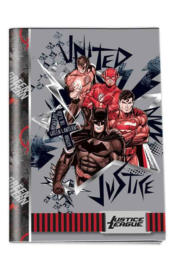 Τετράδιο καρφίτσα 17x25cm 50 φύλλων ριγέ Justice League Graffiti 20550