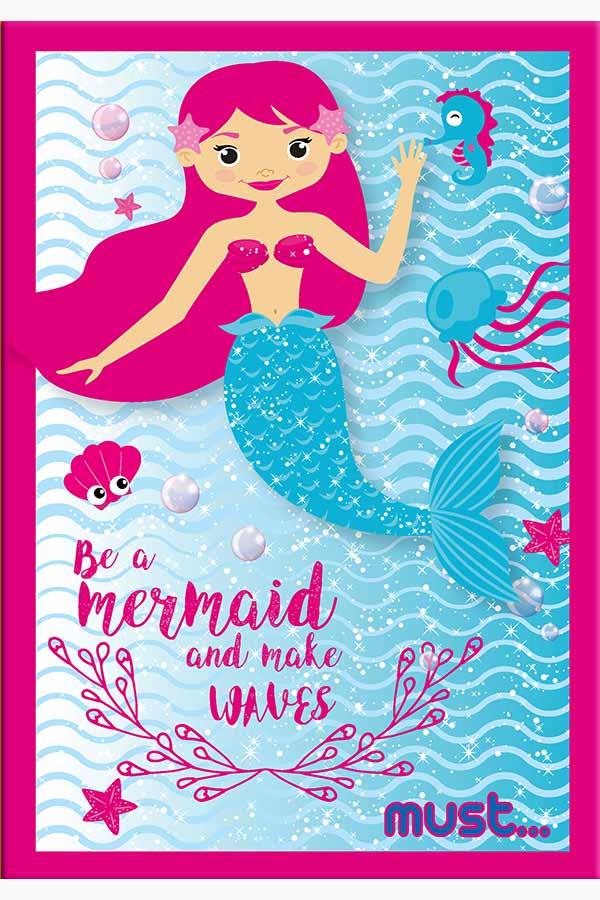Τετράδιο καρφίτσα 17x25cm must Mermaid 0579502