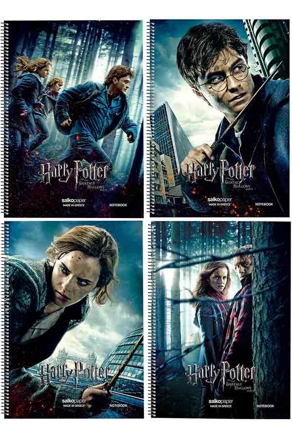 Τετράδιο σπιράλ 2 θέματα 17x25cm Salko Harry Potter 7302