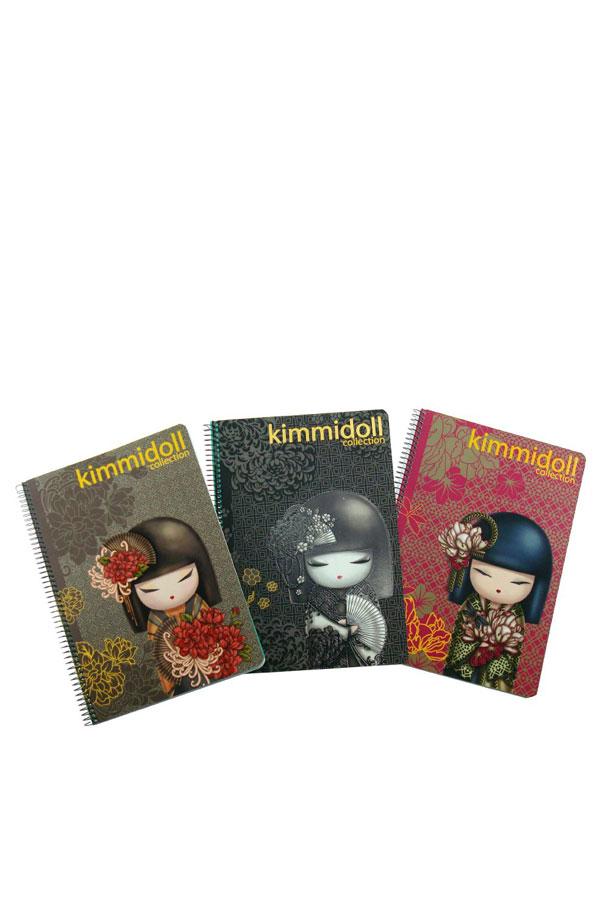Τετράδιο σπιράλ 3 θέματα 17x25cm Kimmidoll 15303