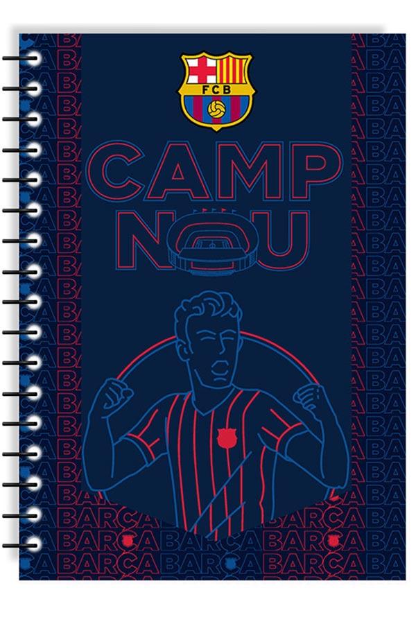 Τετράδιο σπιράλ 2 θέματα Α4 FC Barcelona CAMP NOU 0170595