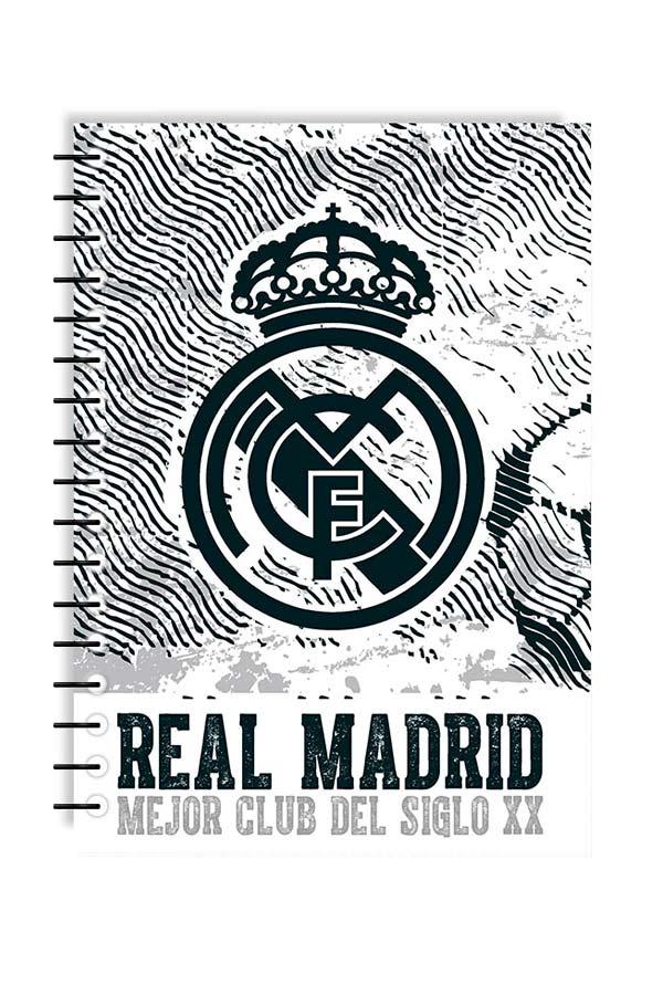 Τετράδιο σπιράλ 2 θέματα 17x25 FC Real Madrid 0170593