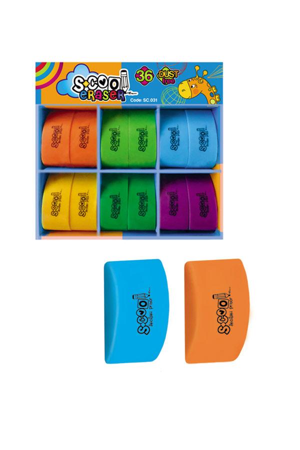 Γόμα μικρή χρωματιστή S.COOL SC.031
