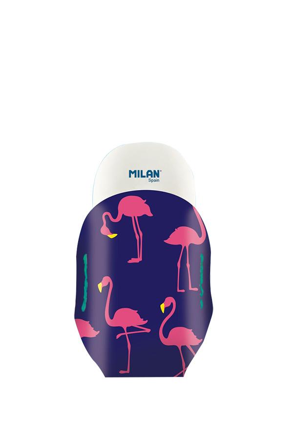 Γόμα λευκή με κάλυμμα Flamingos MILAN 1012
