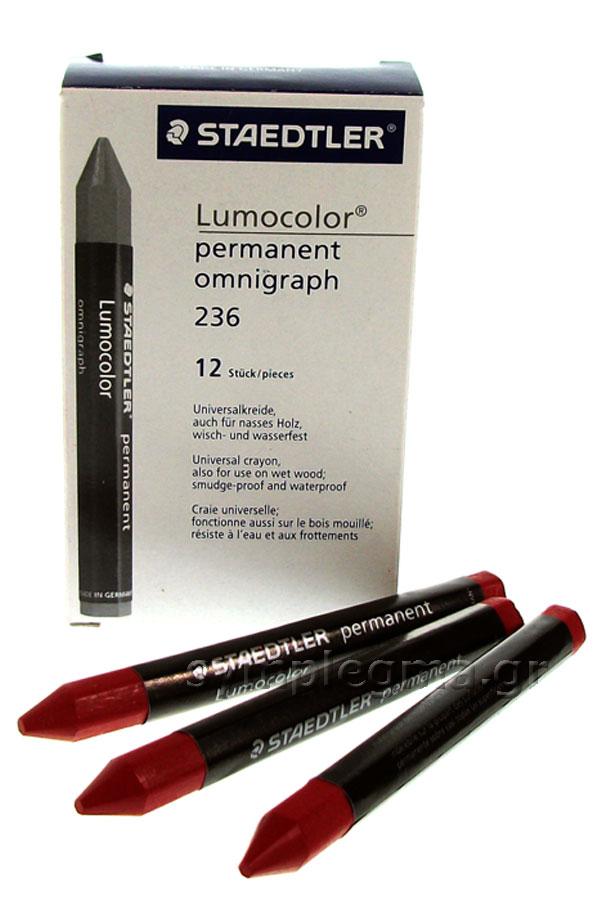 Μαρκαδόρος ψίχας STAEDTLER Lumocolor κόκκινος 236