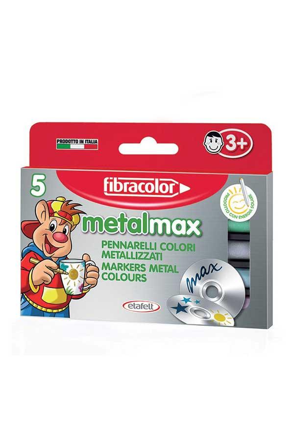 Μαρκαδόροι ζωγραφικής fibracolor metal max 5 χρωμάτων 10580MZ005SE