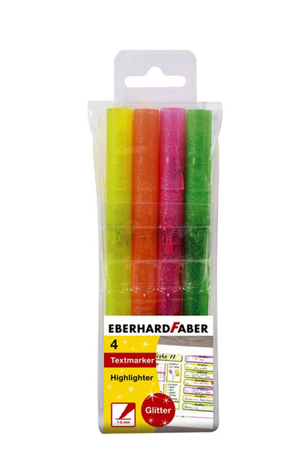 Μαρκαδόροι υπογράμμισης glitter σετ 4τεμ EBERHARD FABER 551404